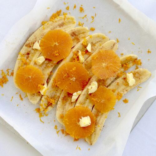 バナナとオレンジのロースト