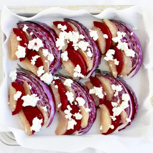 ビーツと紫キャベツ、ピンクグレープフルーツのグリル