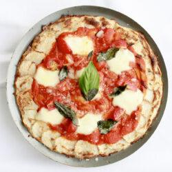 長芋のピザ マルゲリータ
