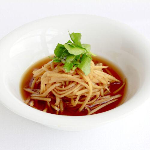 細切り大根のポン酢タレ(季節の揚げ野菜用)